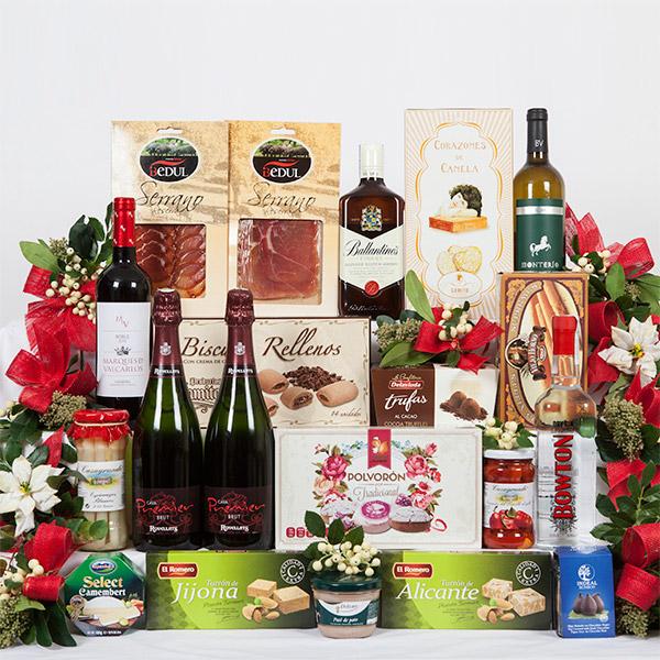 L 5 caja de cart n decorada con motivos navide os - Cajas con motivos navidenos ...